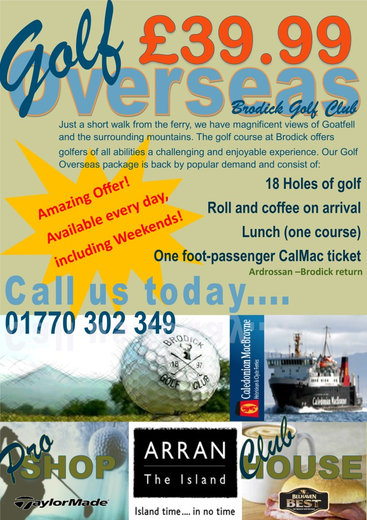Golf Overseas Poster Call Only