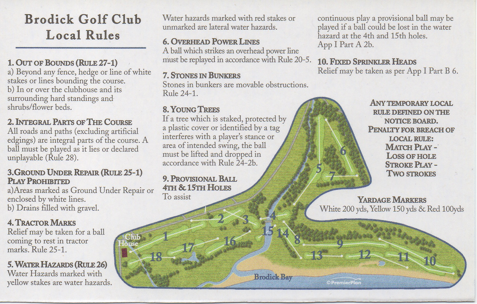 Local Rules and Course Layout